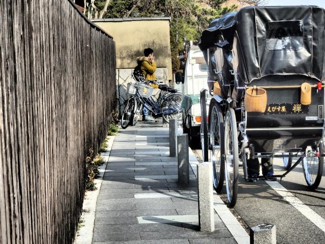京都のひとり旅 嵐山 人力車